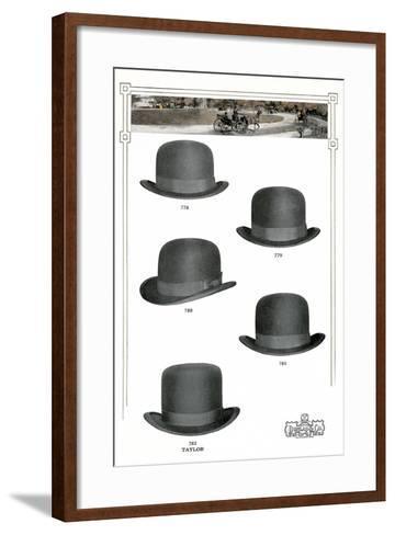 Five Men's Hats Advertisement, 1910s--Framed Art Print
