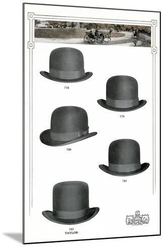 Five Men's Hats Advertisement, 1910s--Mounted Art Print