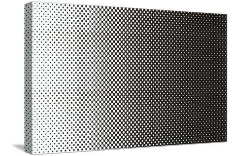 Gradated Dots--Stretched Canvas Print