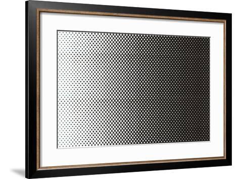 Gradated Dots--Framed Art Print
