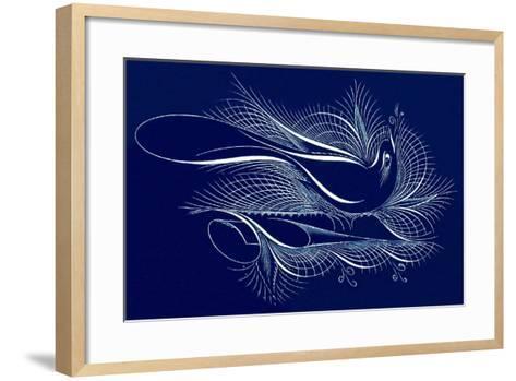 Tughra Bird in Blue--Framed Art Print