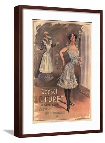 Le Furet Wasp-Waist Corset--Framed Art Print