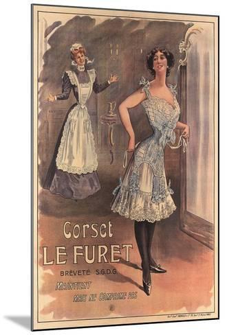 Le Furet Wasp-Waist Corset--Mounted Art Print