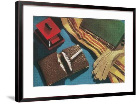 Leather Cigarette Case--Framed Art Print