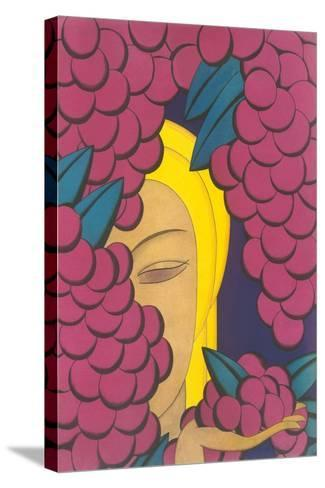 Woman with Grapes--Stretched Canvas Print