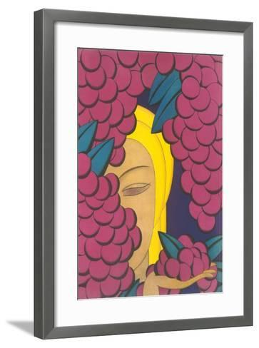 Woman with Grapes--Framed Art Print