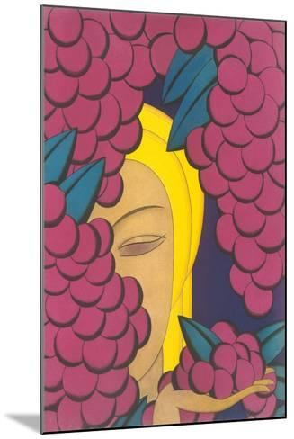 Woman with Grapes--Mounted Art Print