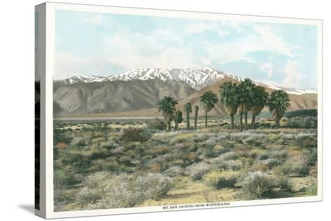 Mt. San Jacinto from Whitewater--Stretched Canvas Print