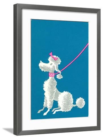Poodle with Pink Leash--Framed Art Print