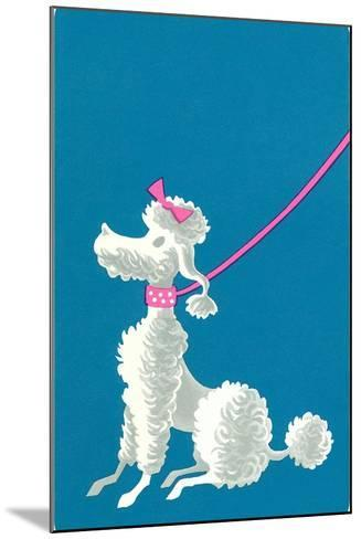 Poodle with Pink Leash--Mounted Art Print