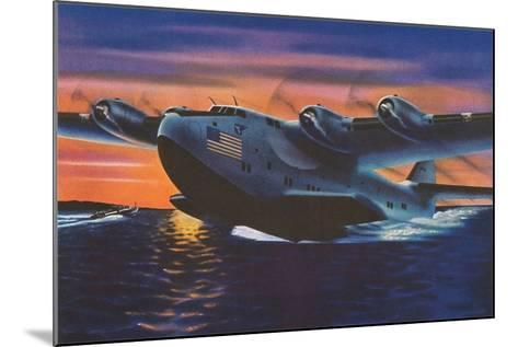 Clipper Plane Taking Off from Water--Mounted Art Print