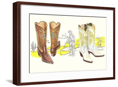 Two Pair of Fancy Cowboy Boots--Framed Art Print