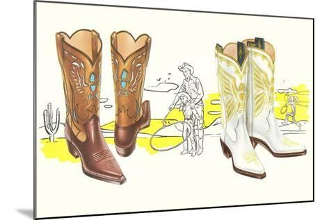 Two Pair of Fancy Cowboy Boots--Mounted Art Print