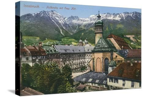 View of Mountains from Innsbruck, Austria--Stretched Canvas Print