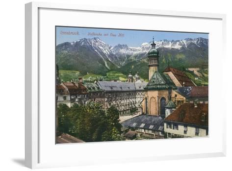 View of Mountains from Innsbruck, Austria--Framed Art Print