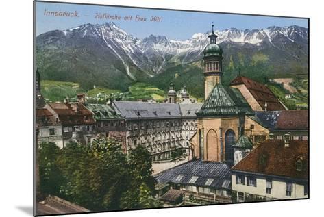 View of Mountains from Innsbruck, Austria--Mounted Art Print