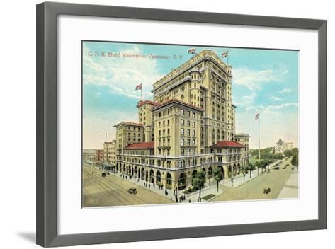 Hotel Vancouver, British Columbia--Framed Art Print