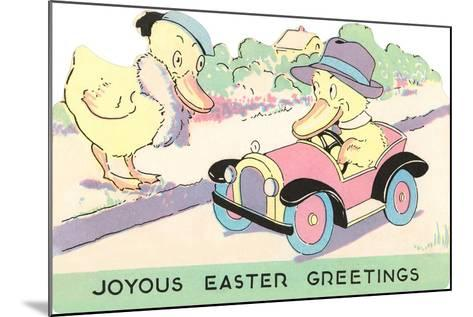 Joyous Easter Greetings, Ducks--Mounted Art Print