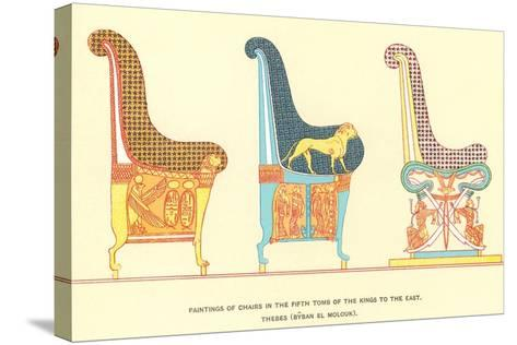 Ancient Chairs from Thebes--Stretched Canvas Print