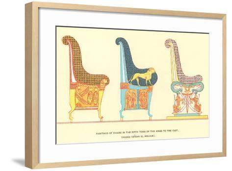 Ancient Chairs from Thebes--Framed Art Print