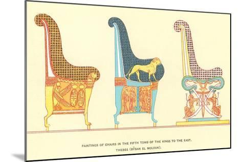 Ancient Chairs from Thebes--Mounted Art Print
