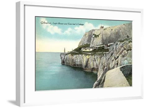 Lighthouse, Gibraltar--Framed Art Print