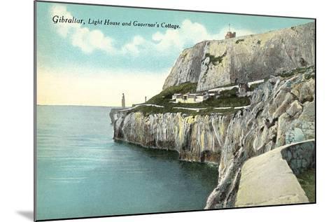 Lighthouse, Gibraltar--Mounted Art Print