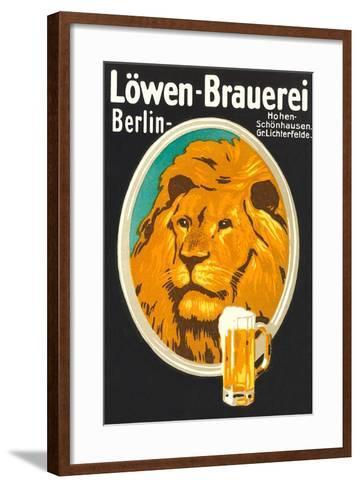 Ad for Lowen Beer--Framed Art Print
