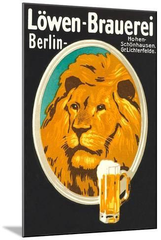 Ad for Lowen Beer--Mounted Art Print