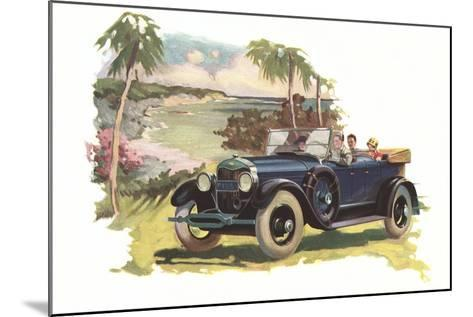 Touring by the Coast--Mounted Art Print