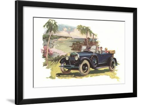 Touring by the Coast--Framed Art Print
