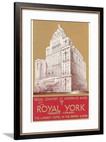 Royal York Hotel, Toronto--Framed Art Print