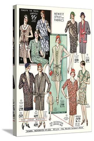 Twenties Clothes Catalog--Stretched Canvas Print