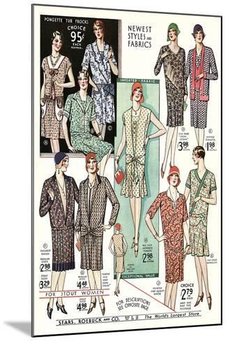 Twenties Clothes Catalog--Mounted Art Print