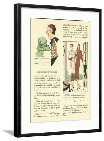 Vintage Fashion Accessories--Framed Art Print