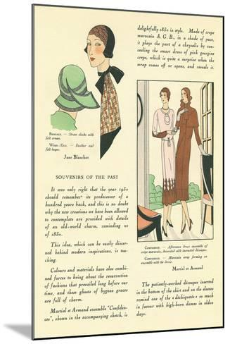 Vintage Fashion Accessories--Mounted Art Print