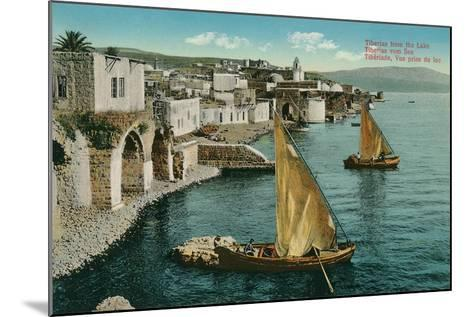 Dhows on Sea of Galilee, Isreal--Mounted Art Print