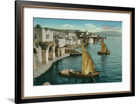 Dhows on Sea of Galilee, Isreal--Framed Art Print