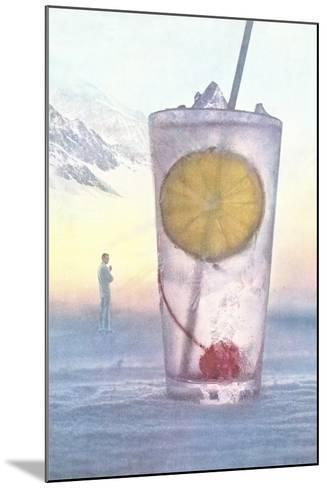 Cool Drink with Cherry and Lemon--Mounted Art Print