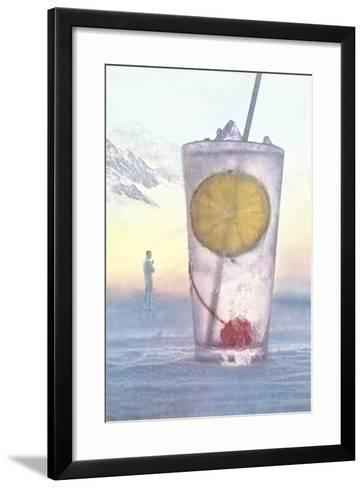 Cool Drink with Cherry and Lemon--Framed Art Print