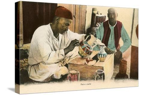 Arabic Potter--Stretched Canvas Print