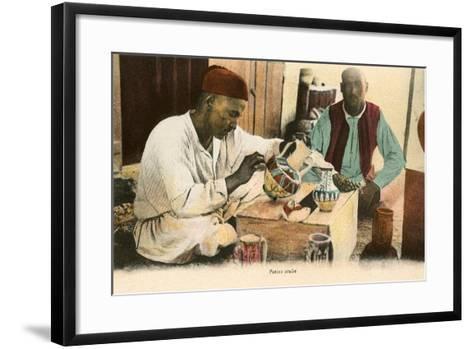 Arabic Potter--Framed Art Print