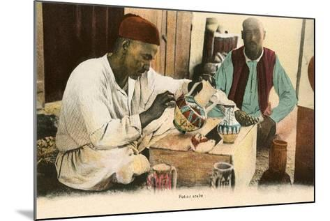 Arabic Potter--Mounted Art Print