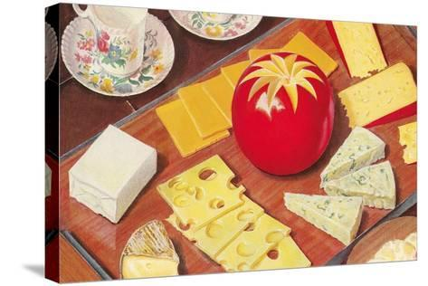 Cheese Array--Stretched Canvas Print