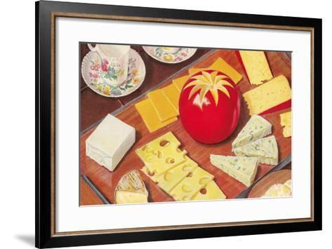 Cheese Array--Framed Art Print