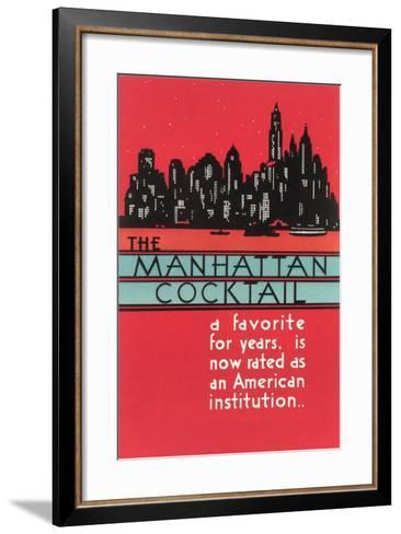 Manhattan Cocktail, Skyline--Framed Art Print
