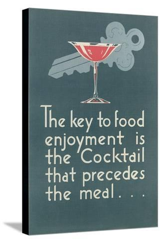 Pro-Cocktail Message--Stretched Canvas Print