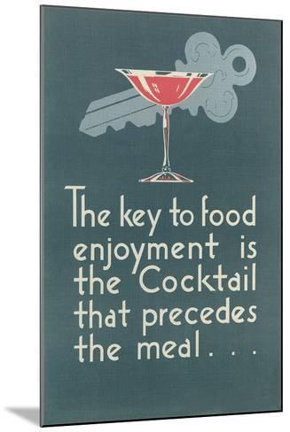 Pro-Cocktail Message--Mounted Art Print