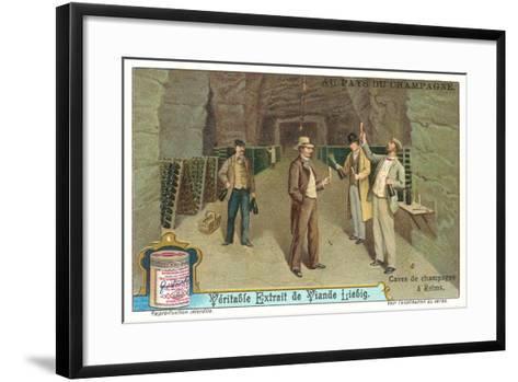 Reims Champagne Caves--Framed Art Print