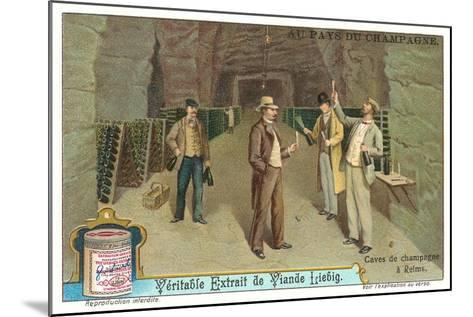 Reims Champagne Caves--Mounted Art Print
